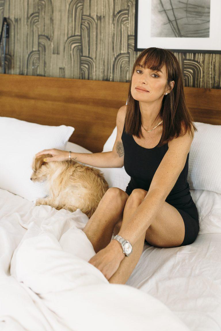 catt sadler's morning routine, bed, bedroom, dog, pet