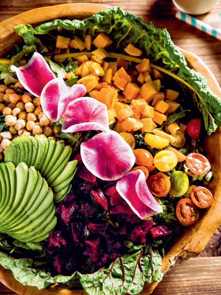 The Malibu Farm Rainbow Chopped Salad