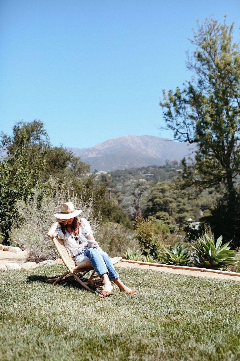 samantha wennerstrom, could i have that, california, reading, relaxing, meditating, morning, santa barbara
