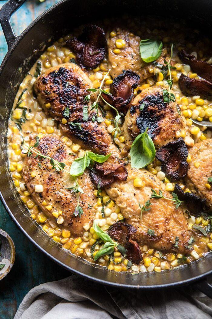 Half Roasted Garlic Butter Butter Corn Chicken