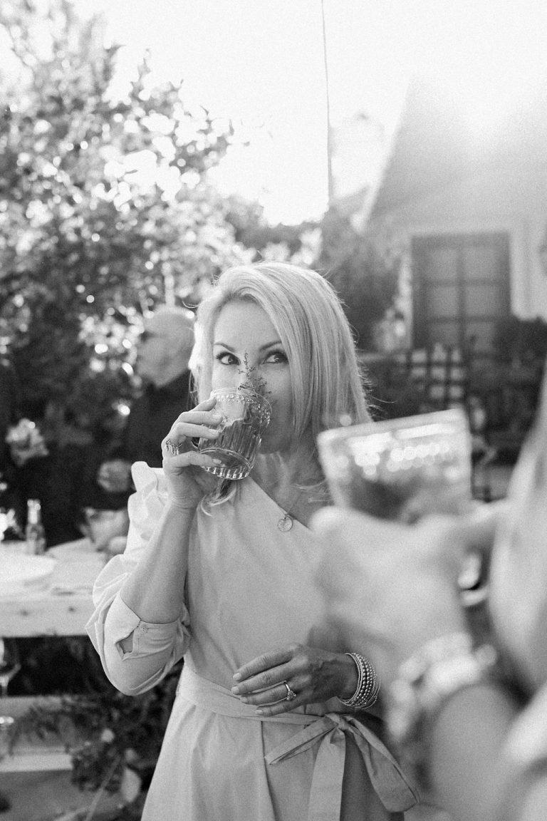 Valerie Rice dinner party in Santa Barbara, summer cocktails