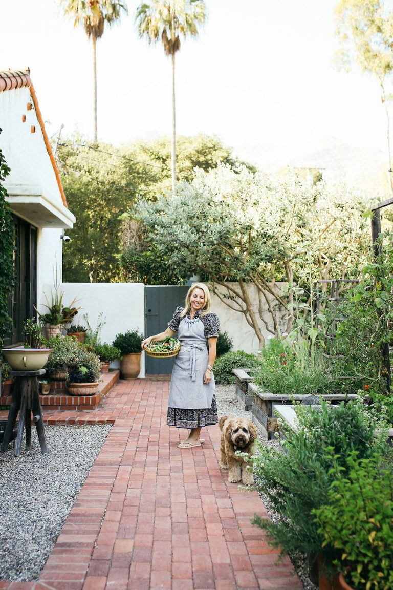Valerie Rice dinner party in Santa Barbara, bougainvillea and mediterranean house exterior