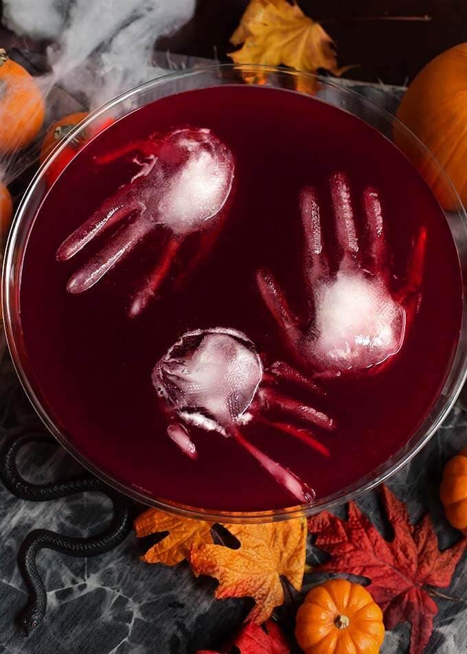 spooky halloween sangria punch