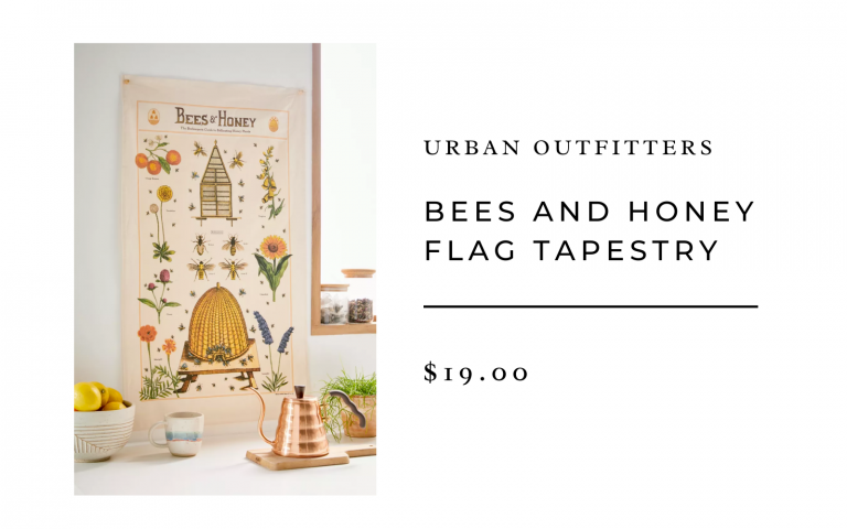 urban outfitters bees and honey flag tapestry