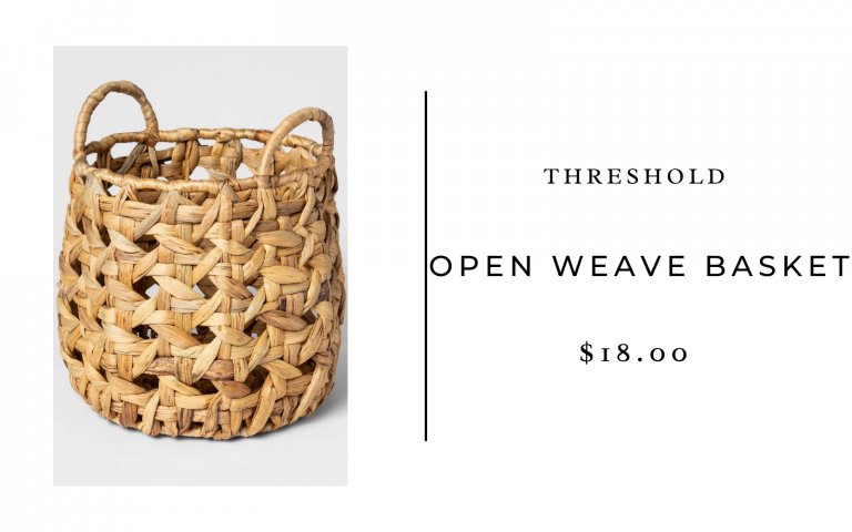 threshold open weave basket