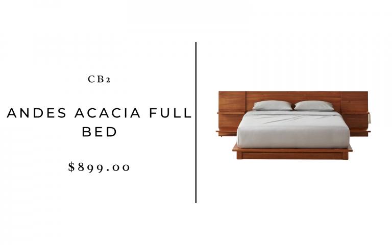 lit double acacia cb2