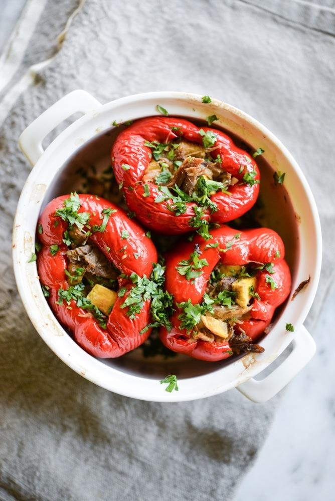 carnitas stuffed peppers