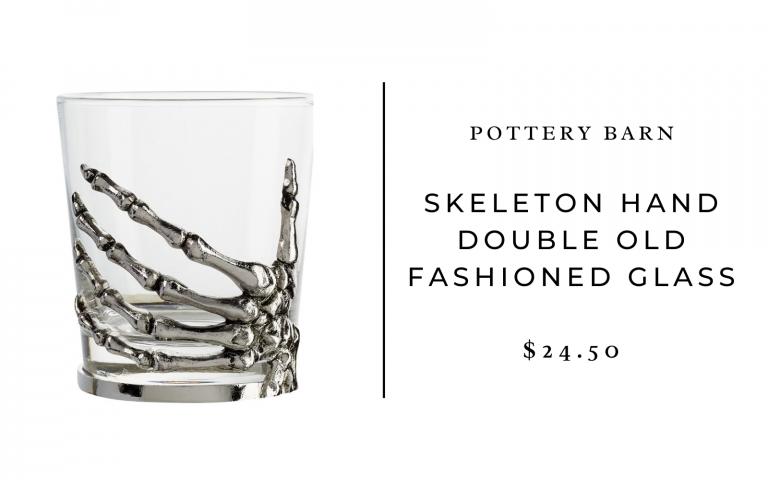 pottery barn skeleton glasses