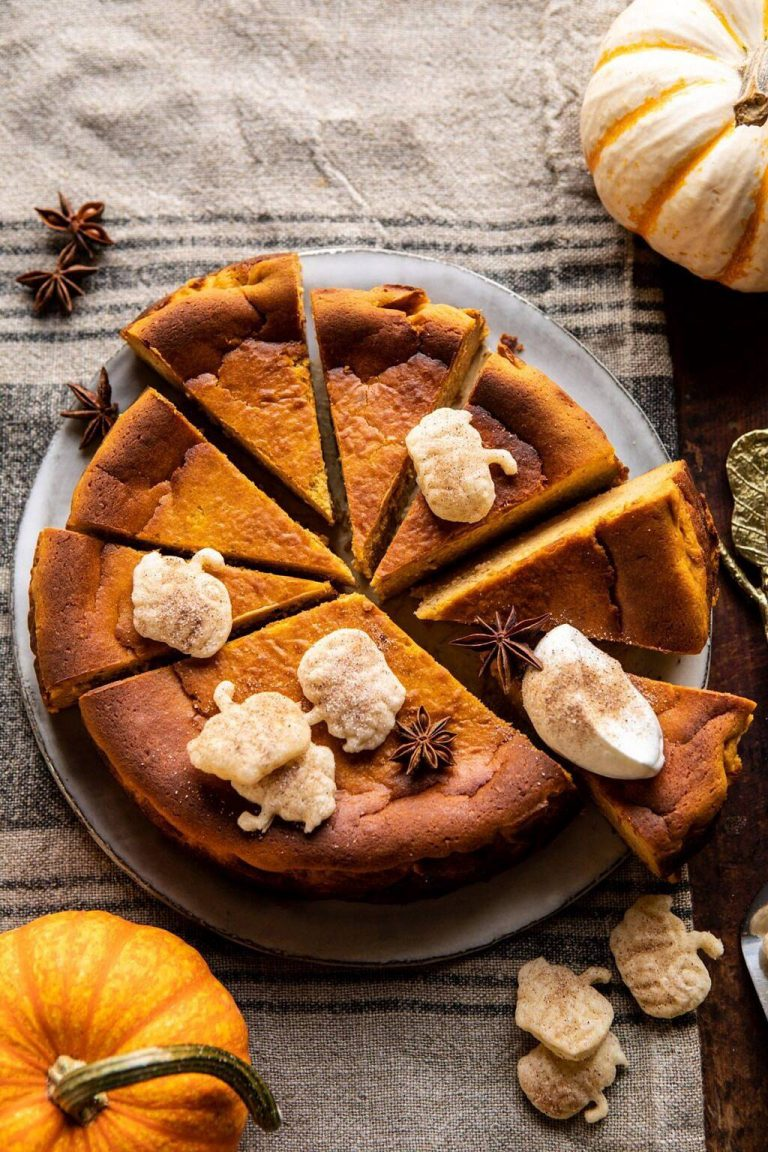 burnt basque pumpkin spice cheesecake