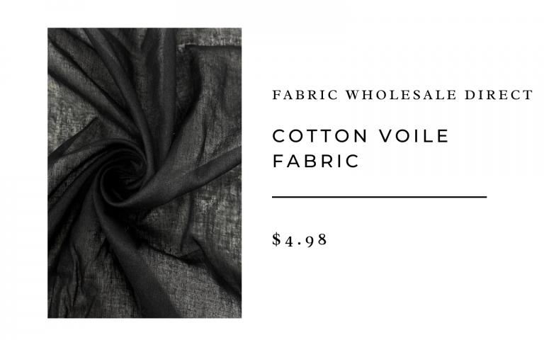 fabric black cotton voile