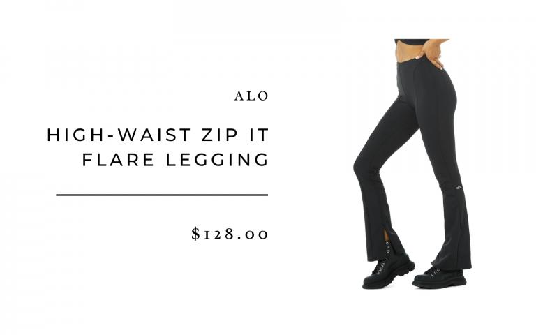 Alo High Waist Zip-It Flare Legging