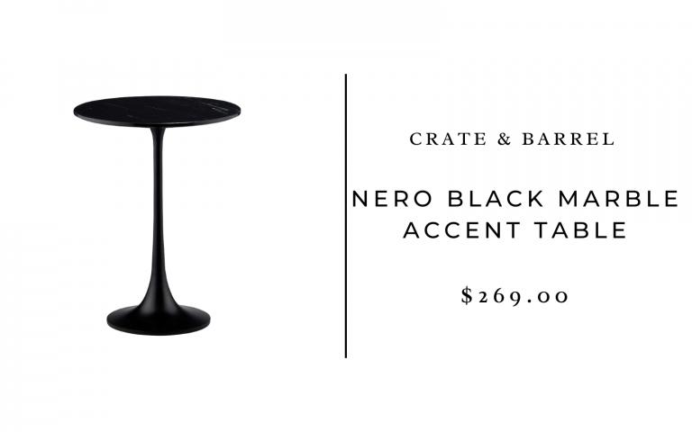 caisse et baril table d'appoint en marbre noir nero