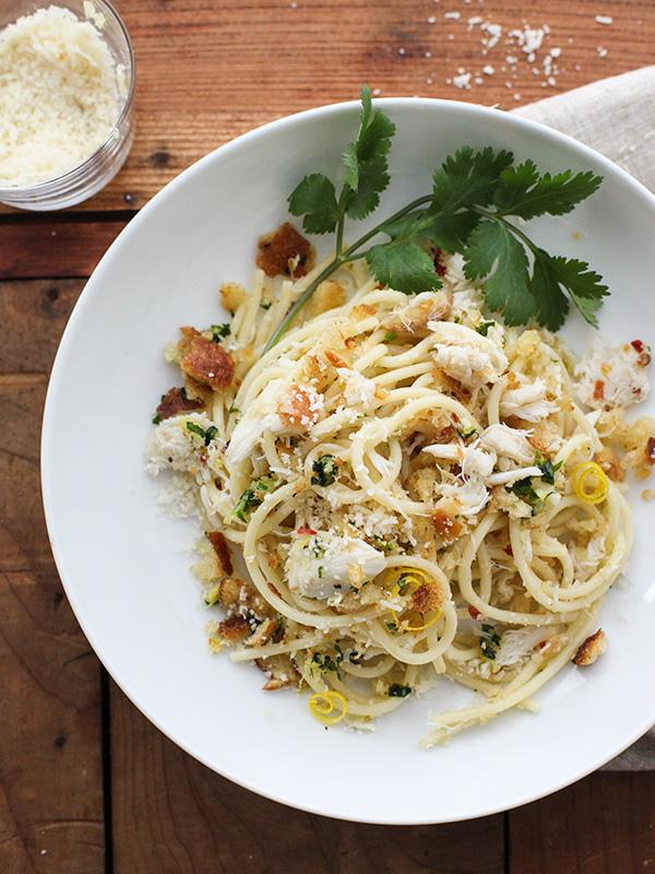 spaghettis au crabe de foodie crush