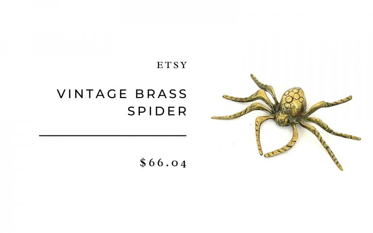 vintage brass spider