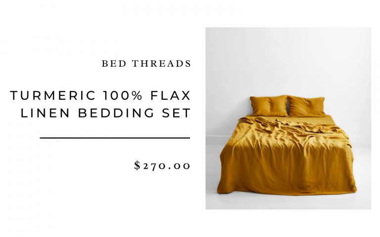 Bed Threads Turmeric Duvet Cover and Sheet Set