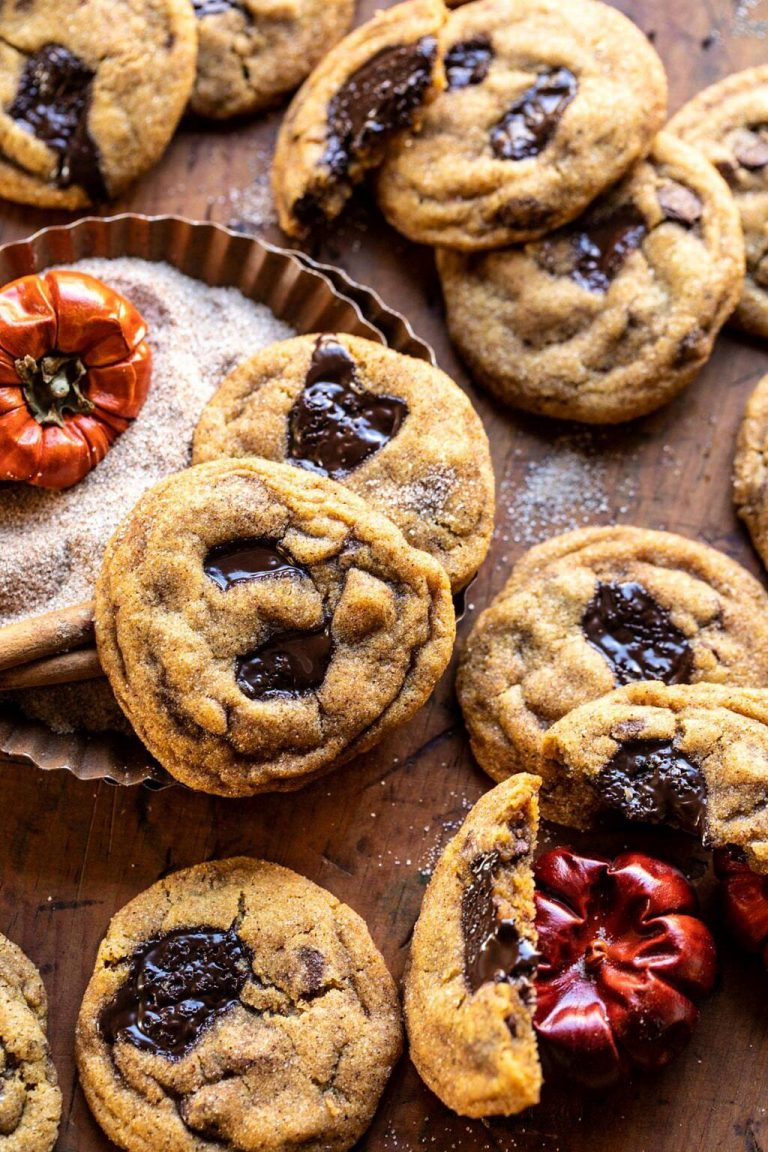 pumpkin butter chocolate chip cookies from half baked harvest