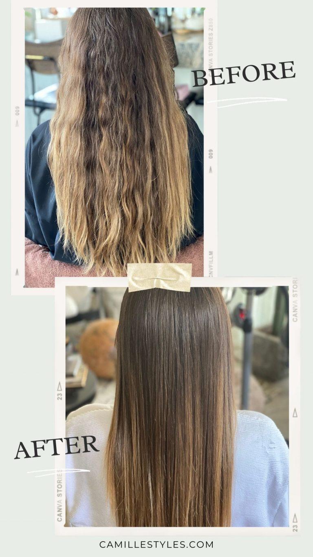 قبل از درمان طبیعی صاف کردن مو