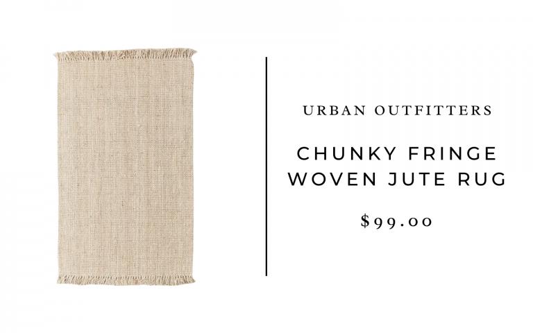 tapis en laine à franges épaisses urban Outfitters