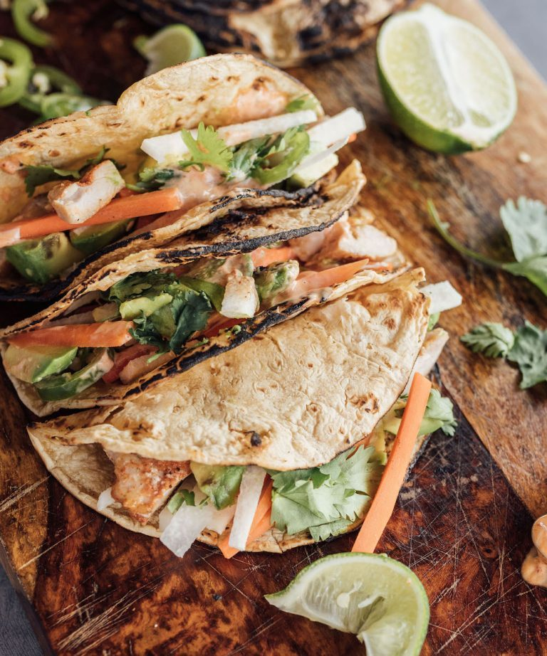 limey chicken tacos