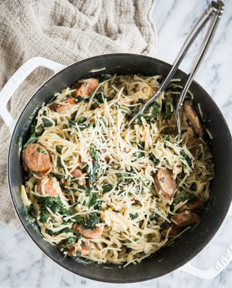 One-Pot Pasta With Italian Sausage and Kale
