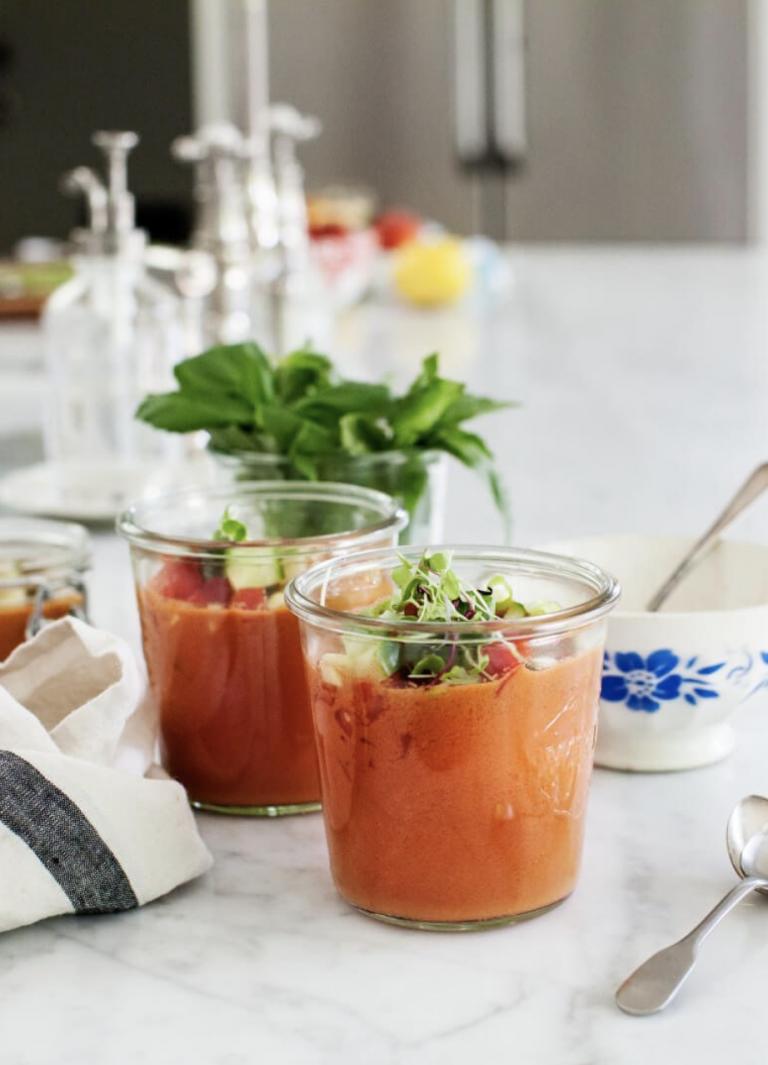 Watermelon Gazpacho from Love & Lemons