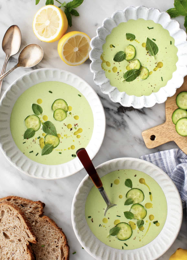 Cold Cucumber Soup from Love and Lemons