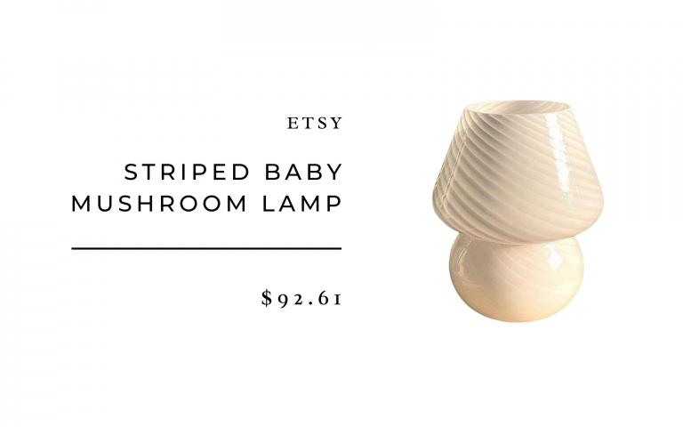 lampe champignon de style murano etsy