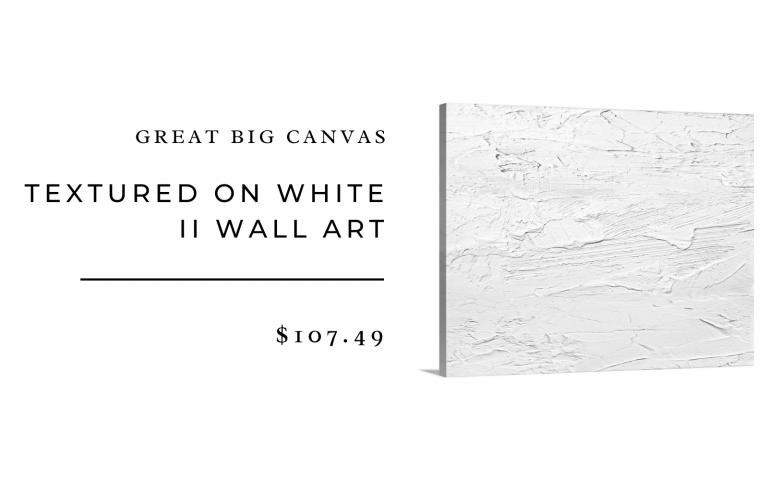 grande grande toile blanche art mural
