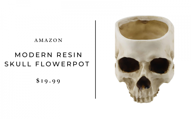 resin skull shaped flower pot