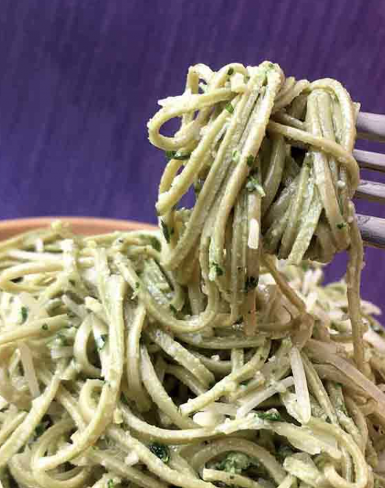 Low Carb Edamame Spaghetti by Resolution Eats