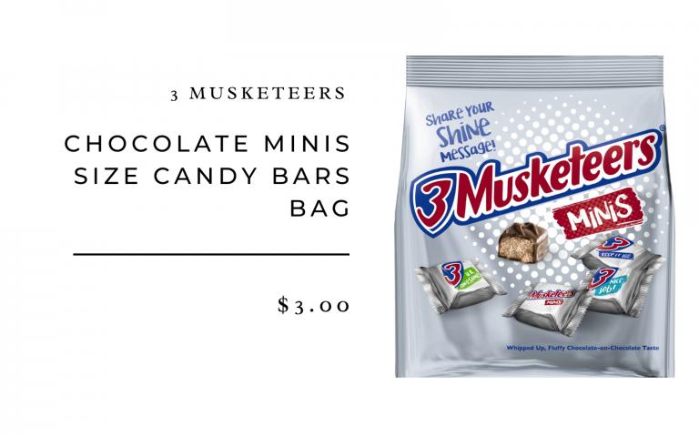 three musketeers mini bites