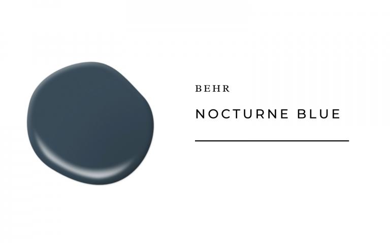 behr nocturne blue