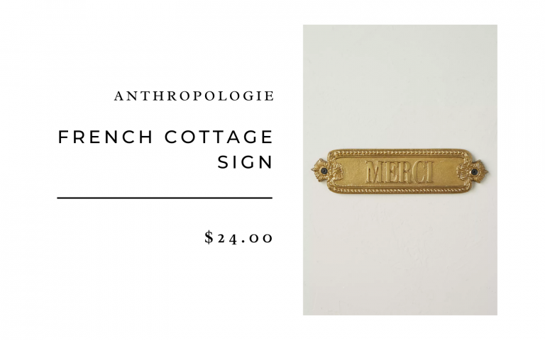 anthropologie french cottage sign