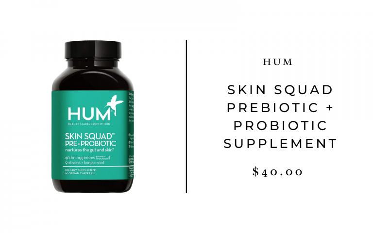 HUM Skin Squad Prebiotic + Probiotic Supplement