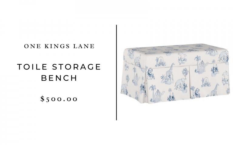 one kings lane toile storage bench
