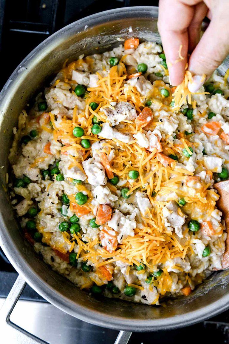 مرغ خامه ای و برنج