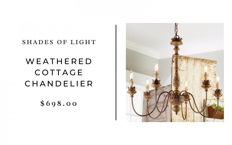 shades of light cottage chandelier