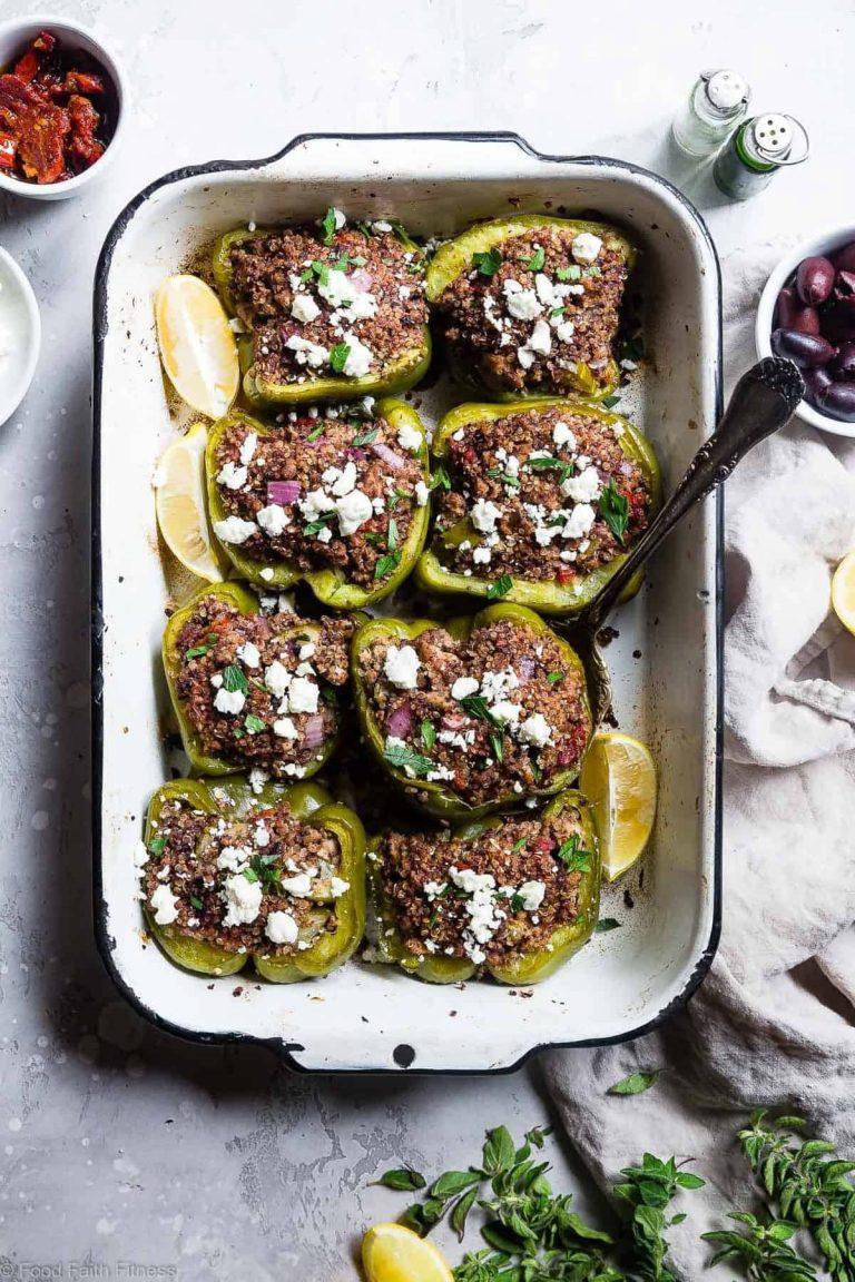 turkey stuffed quinoa bell peppers