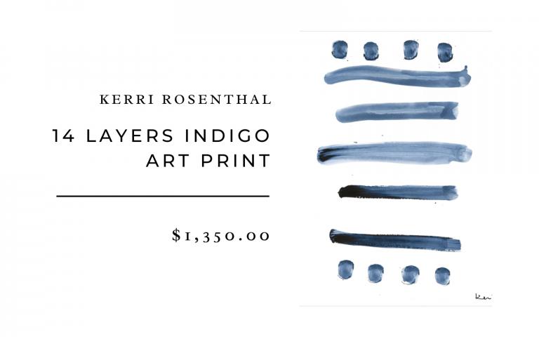 24 layers indigo art print