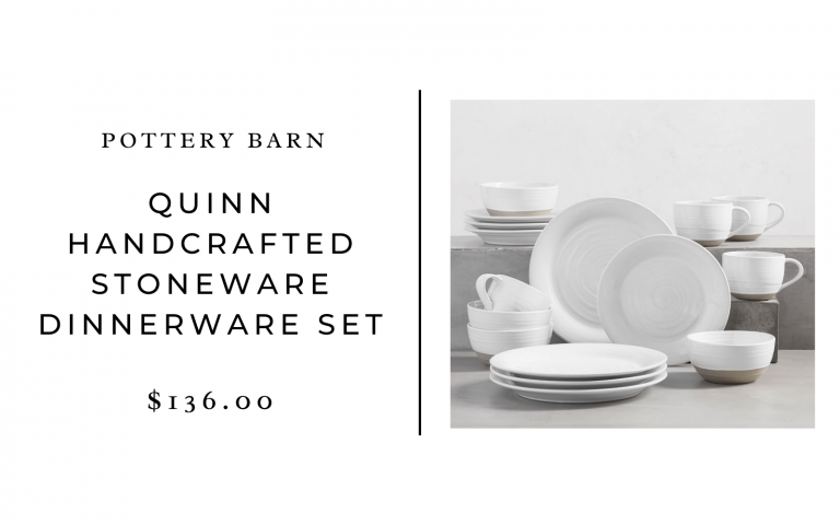 pottery barn quinn handcrafted stoneware set