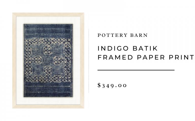 pb indigo batik framed paper