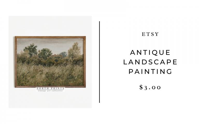 etsy antique landscape print