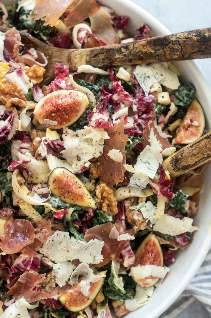 Street salad with Prosciutto and Giadzy figs