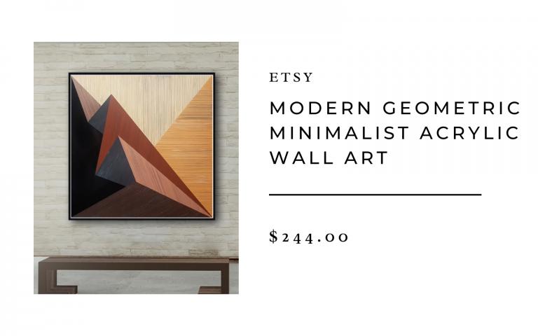 etsy geometric minimalist wall art