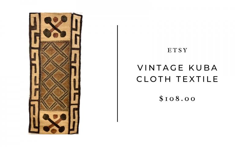 etsy vintage kuba cloth
