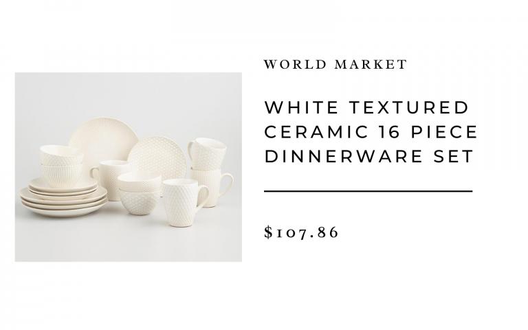 world market texture ceramic dinnerware