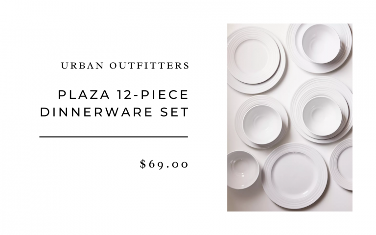 plaza 12-piece dinnerware set urban outfitters