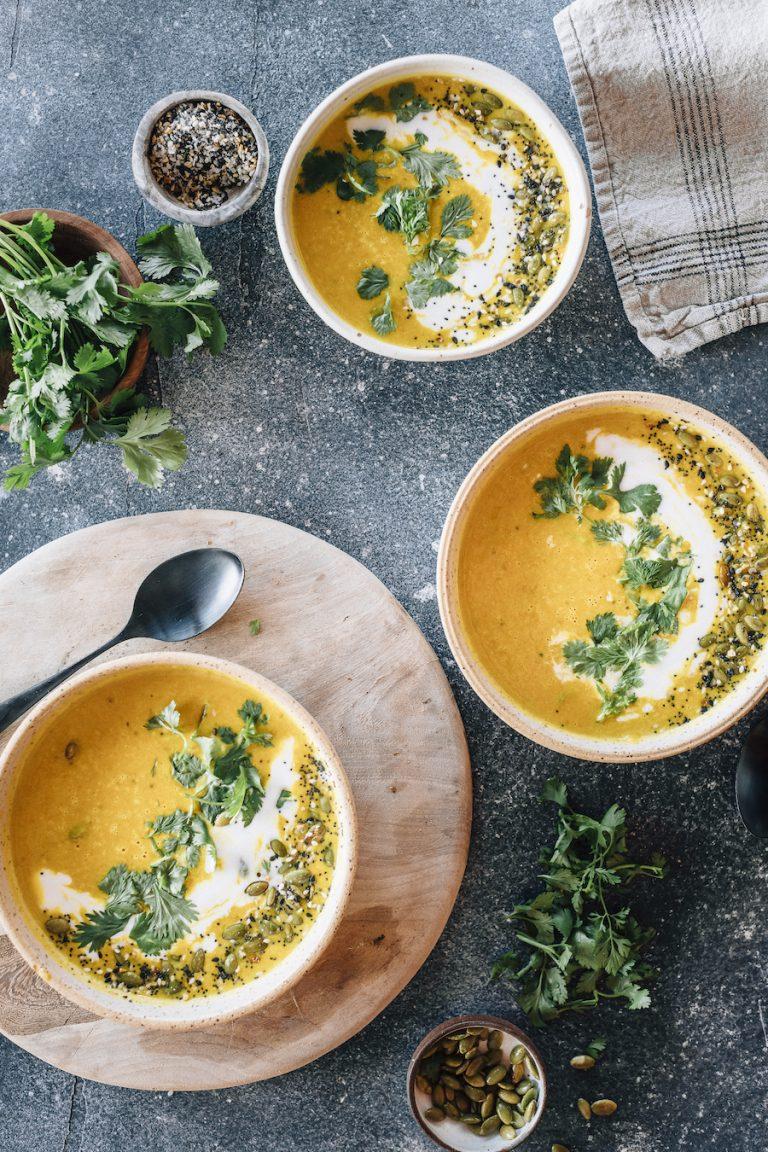 دستور تهیه سوپ کدو تنبل وگان