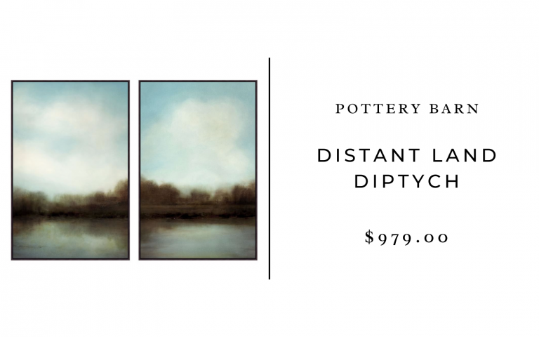 pottery barn distant land diptych