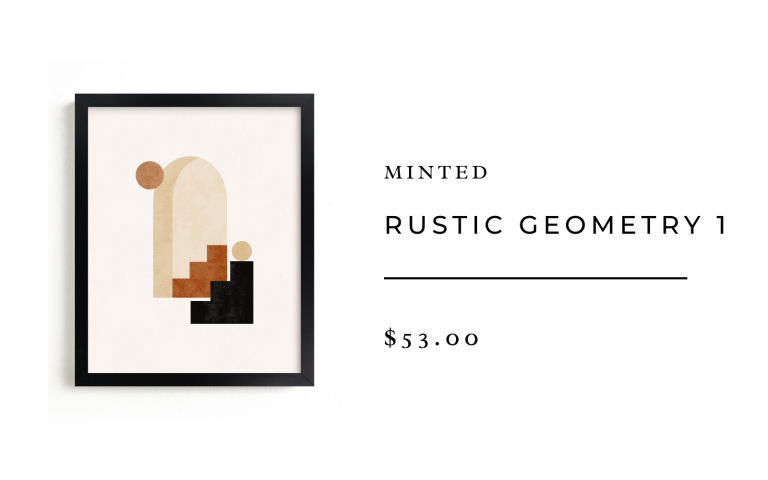 minted abstract geometry